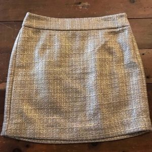 Banana republic mini skirt- gold tweed